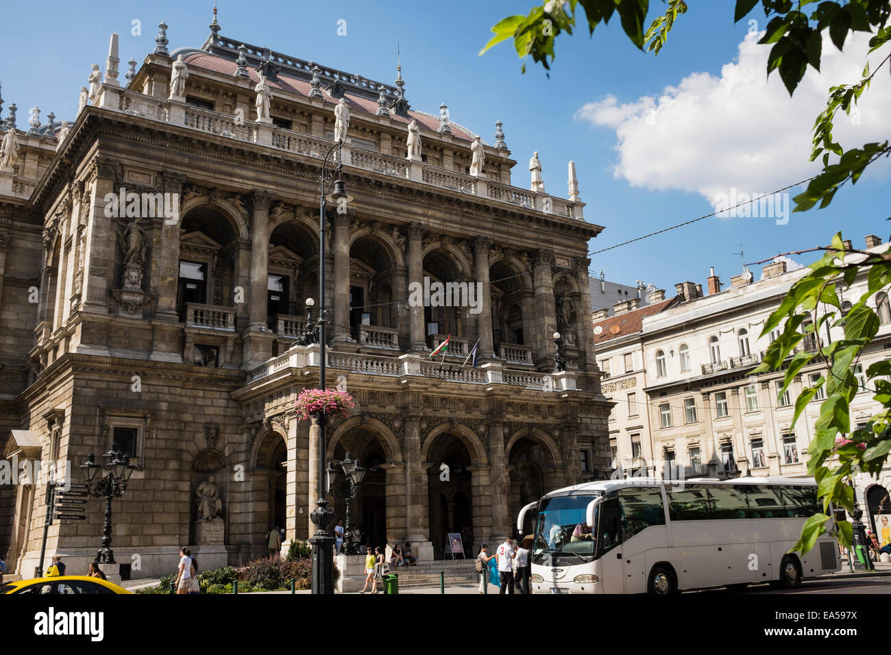 Exterior view of the Hungarian State Opera House in Budapest, Hungary. - Stock Image