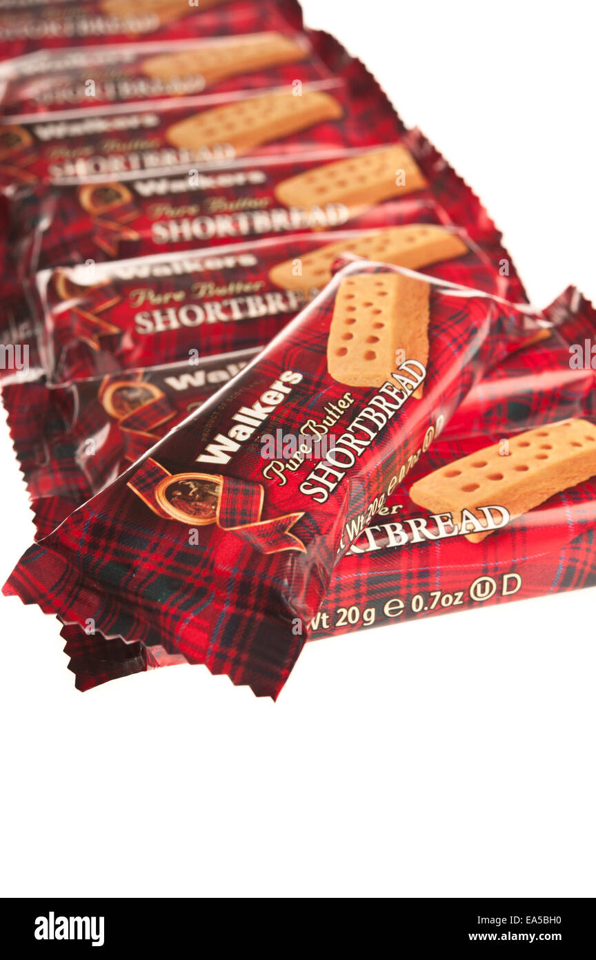 Walkers shortbread fingers wrapped - Stock Image