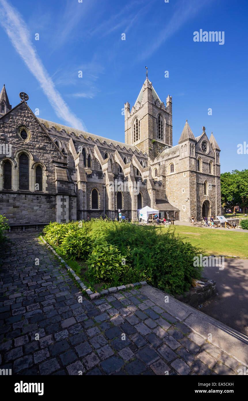 Ireland, County Dublin, Dublin, Dublinia, Wood Quay, Christ Church Cathedral - Stock Image
