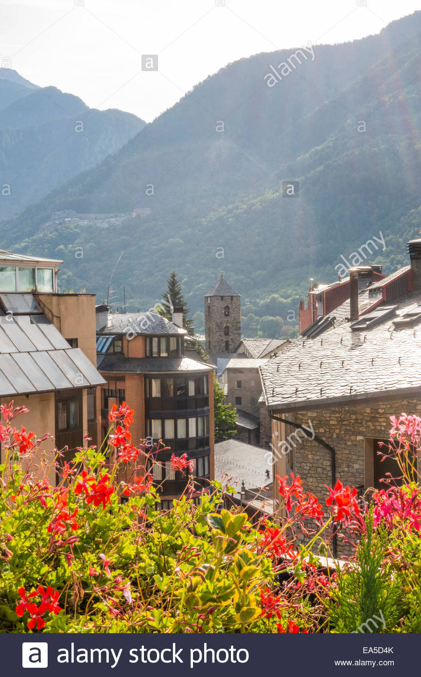 Andorra, Andorra la Vella, historic city center Stock Photo