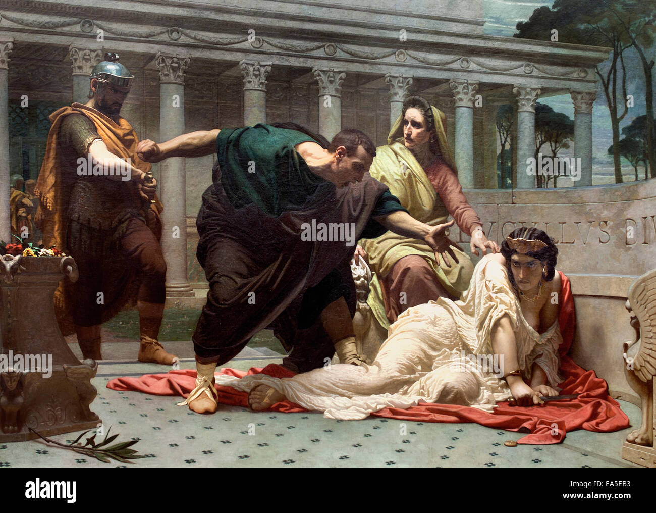 The death of Valeria Messalina ( wife of the Roman Emperor Claudius )  Victor Francois Eloi Biennoury  French - Stock Image