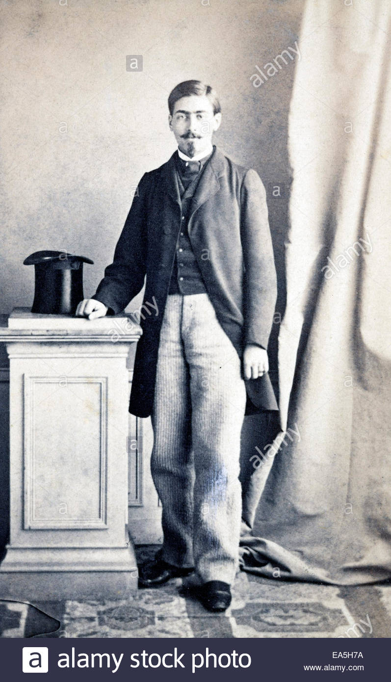 portrait man standing late 1800s - Stock Image