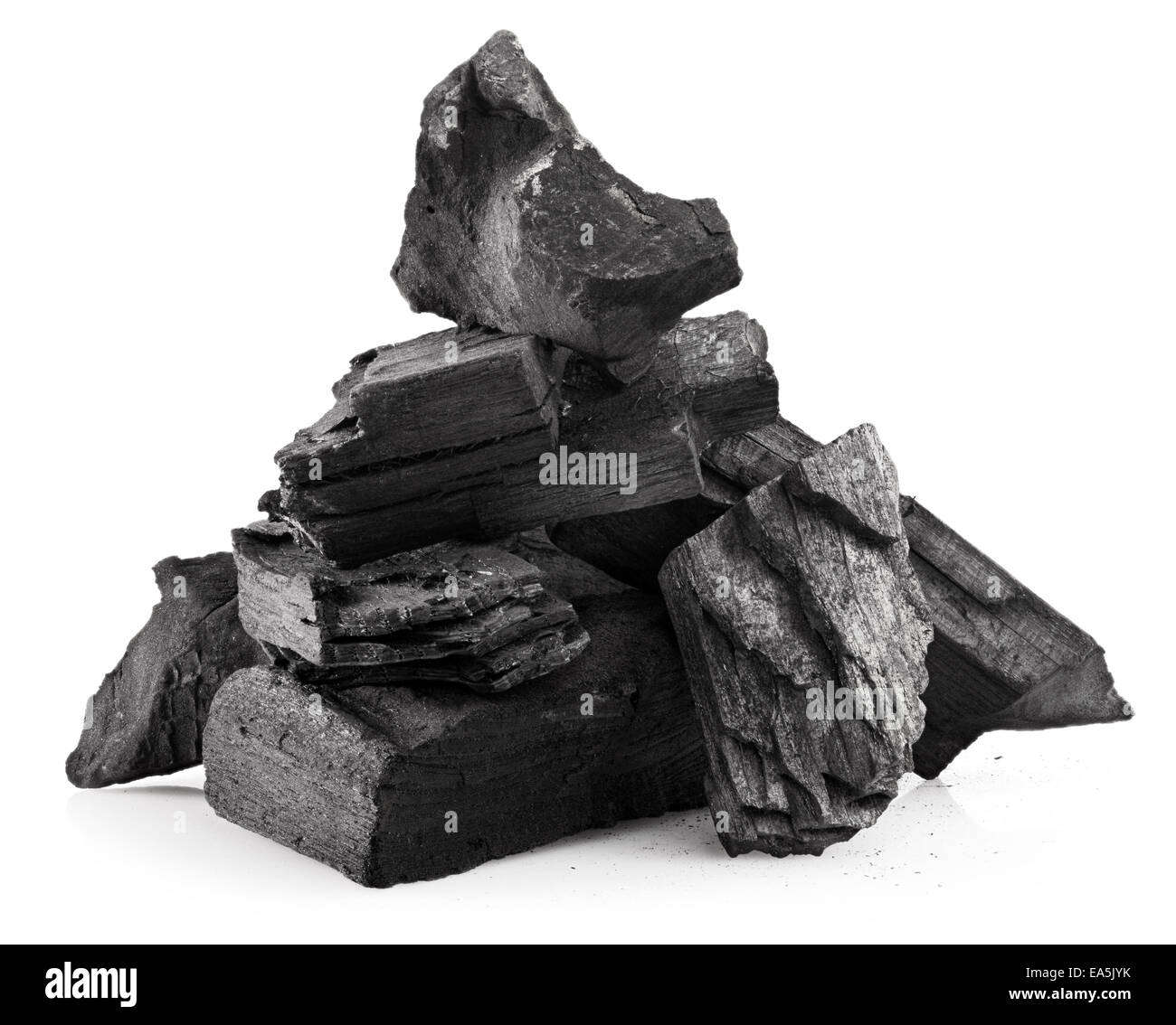 wood coal - Stock Image