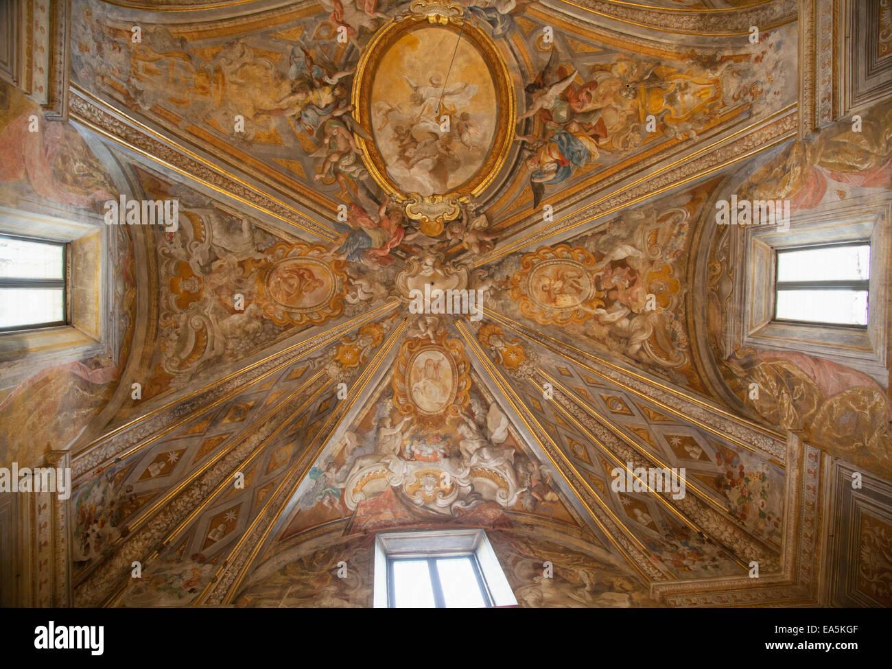 Ceiling of Oratorio di San Giuseppe, Urbino (UNESCO World Heritage Site), Le Marche, Italy - Stock Image