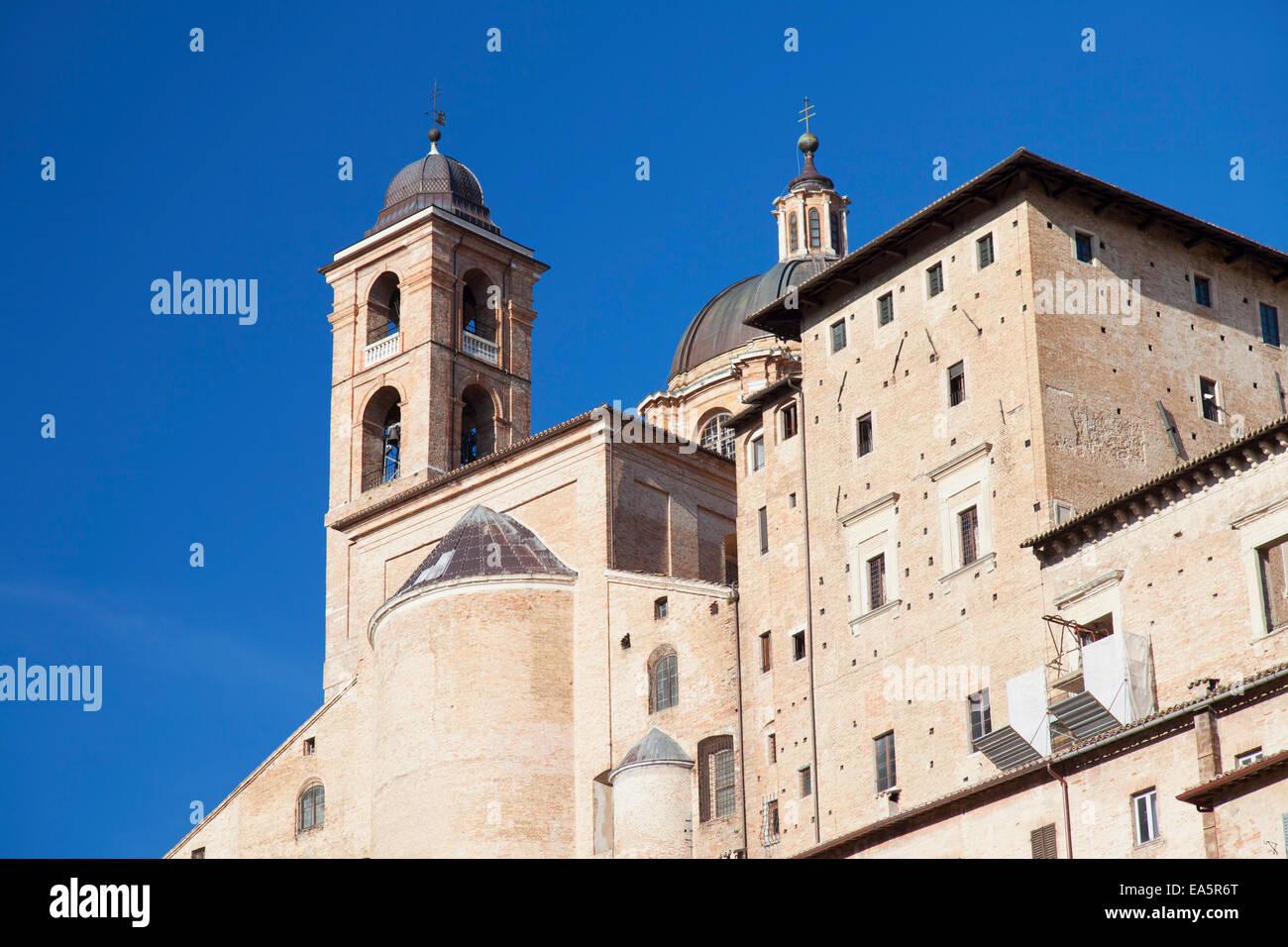 Palazzo Ducale, Urbino (UNESCO World Heritage Site), Le Marche, Italy Stock Photo
