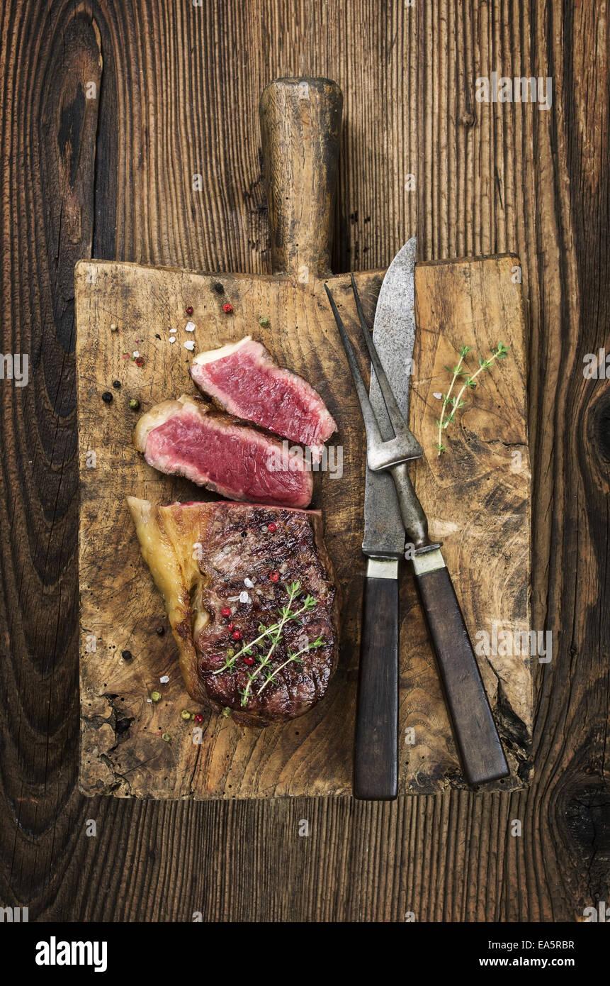 steak on the cutting board Stock Photo