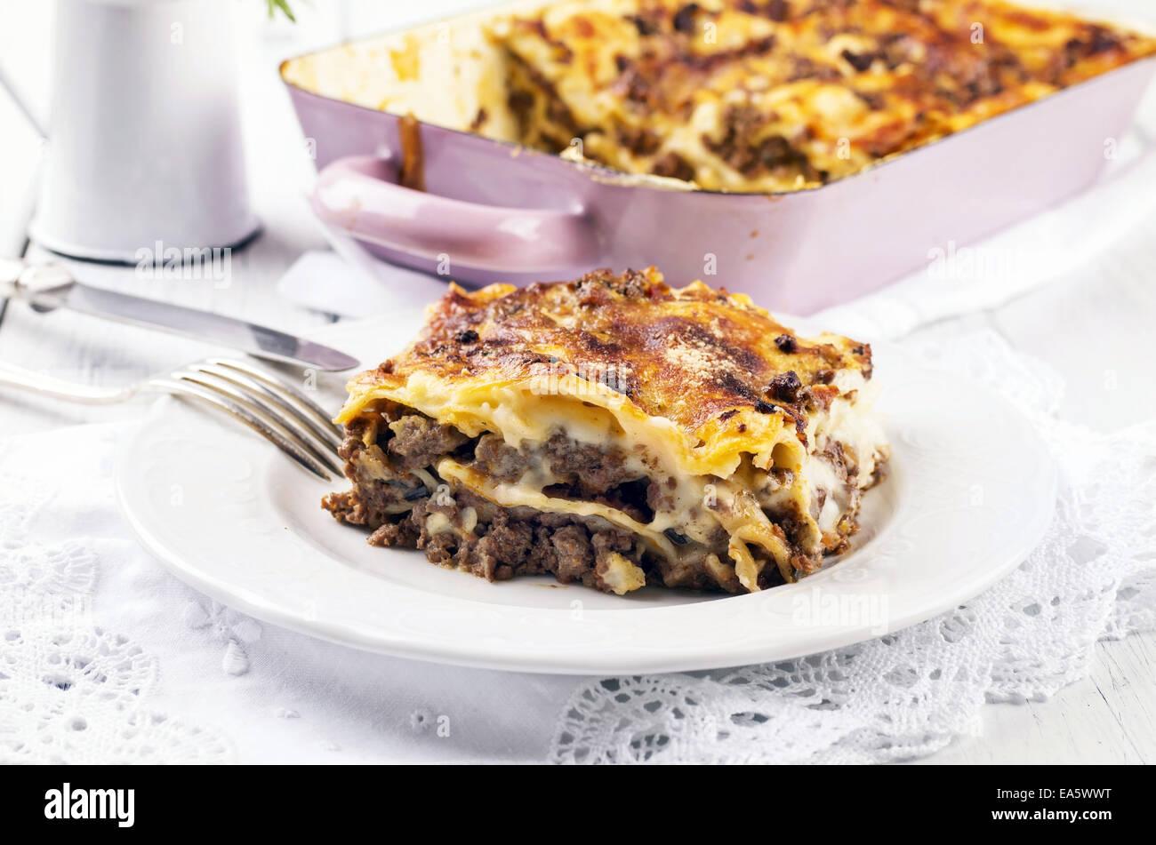 lasagne - Stock Image