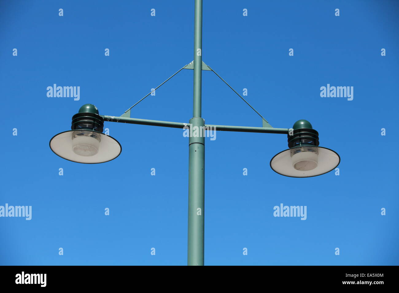 modern green Streetlight - Stock Image
