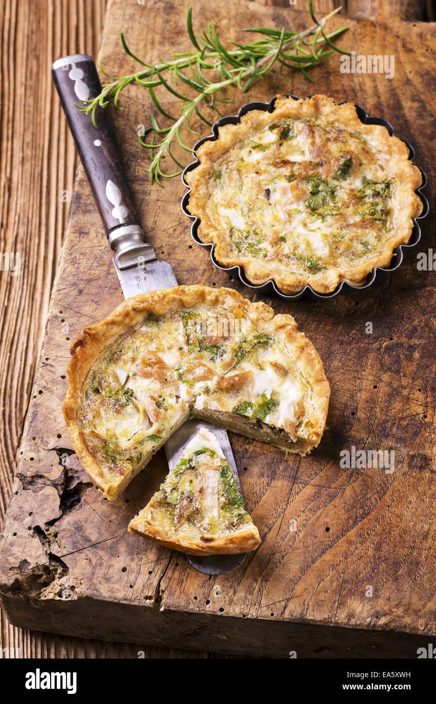 quiche with tuna fish Stock Photo
