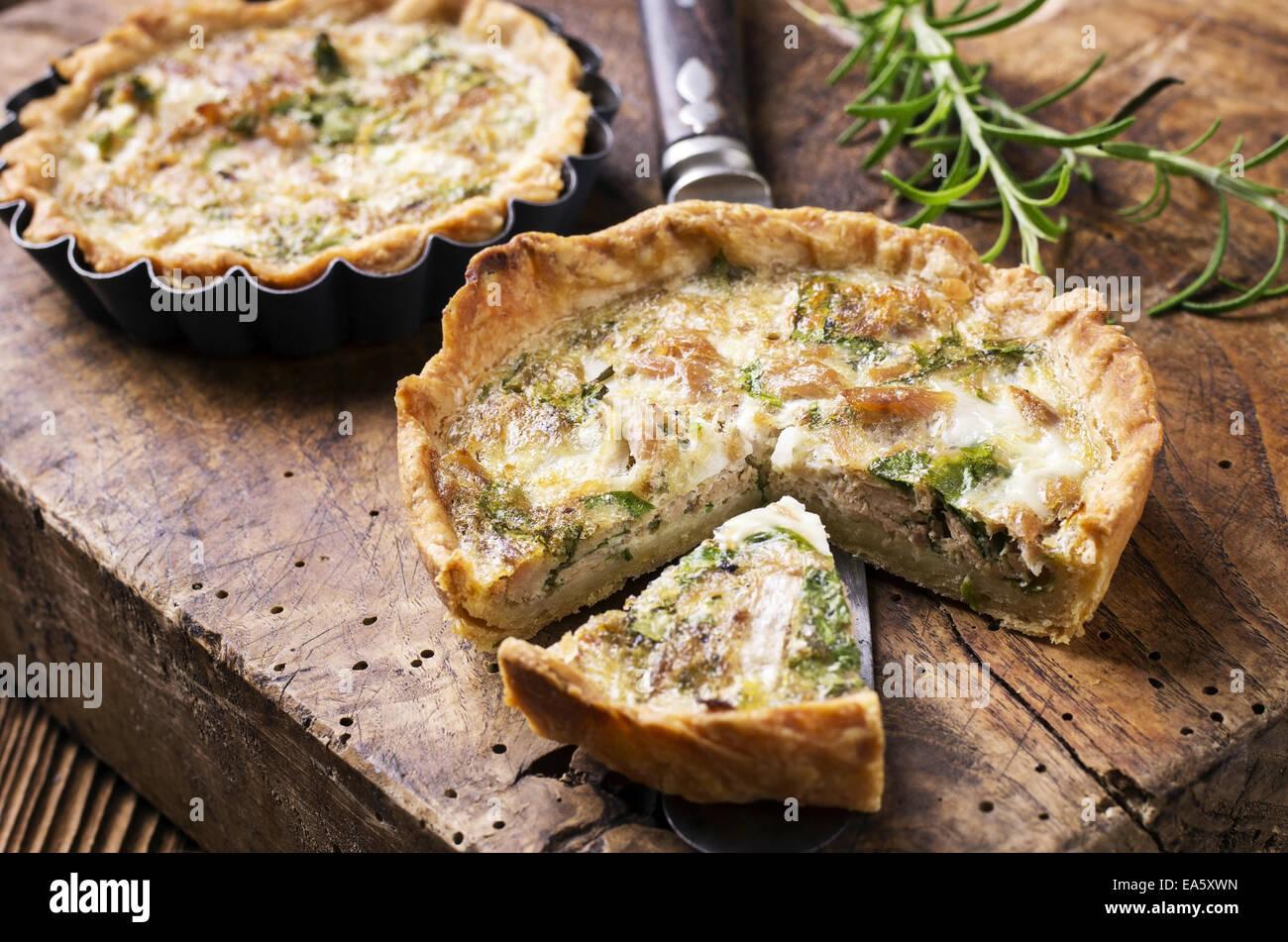 quiche with tuna fish - Stock Image
