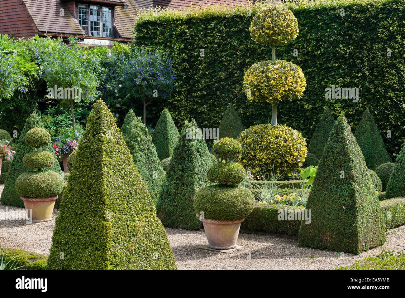 East Ruston Old Vicarage gardens, Norwich, Norfolk, UK. The Dutch Garden - Stock Image