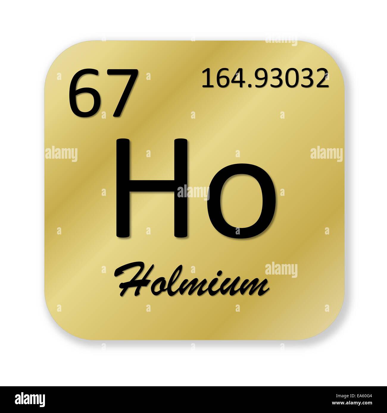 Holmium Element Stock Photo 75120196 Alamy