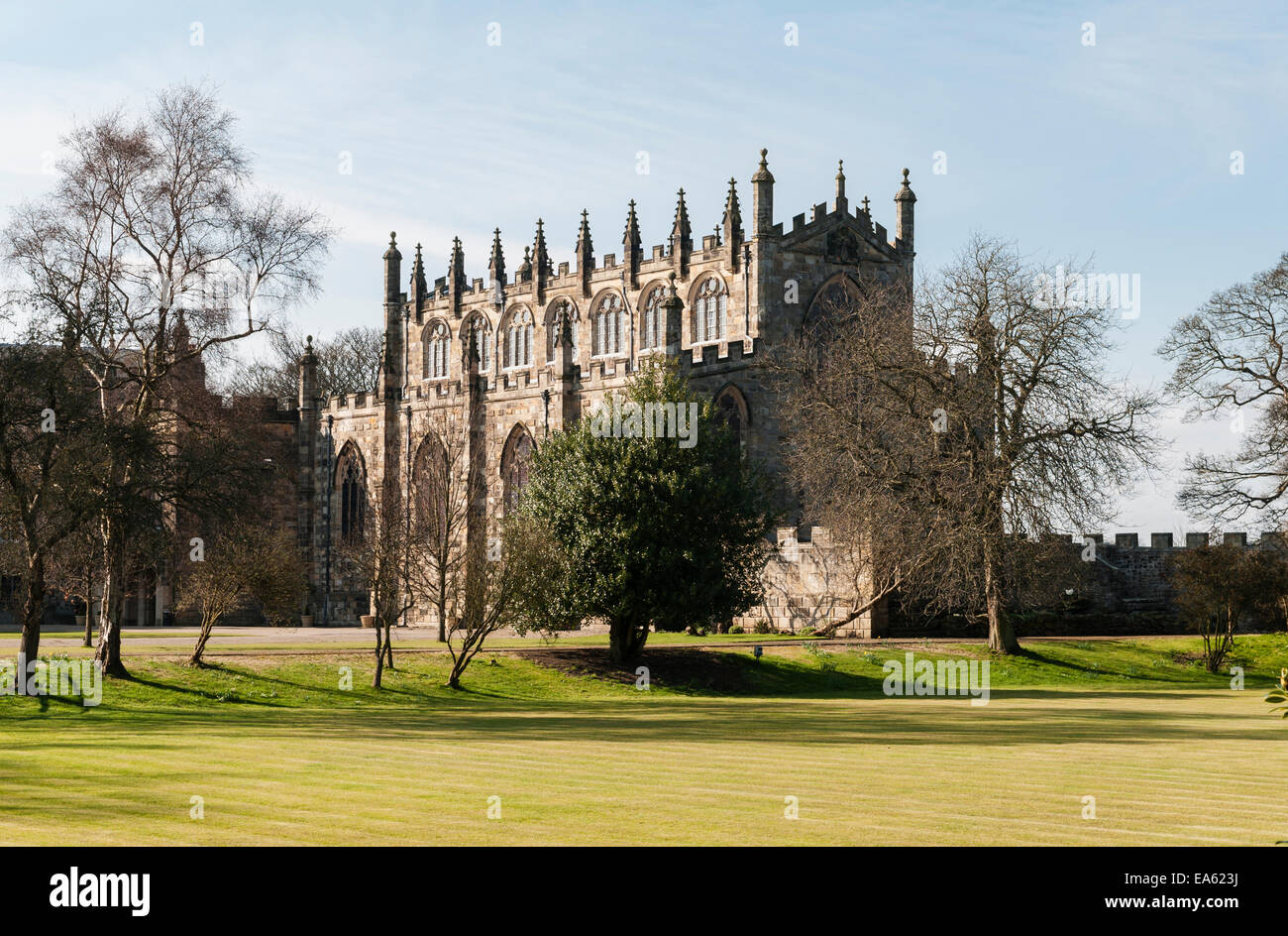 Auckland Castle (the Bishop's Palace), County Durham, UK. Chapel of St Peter (built 1190, converted to chapel - Stock Image