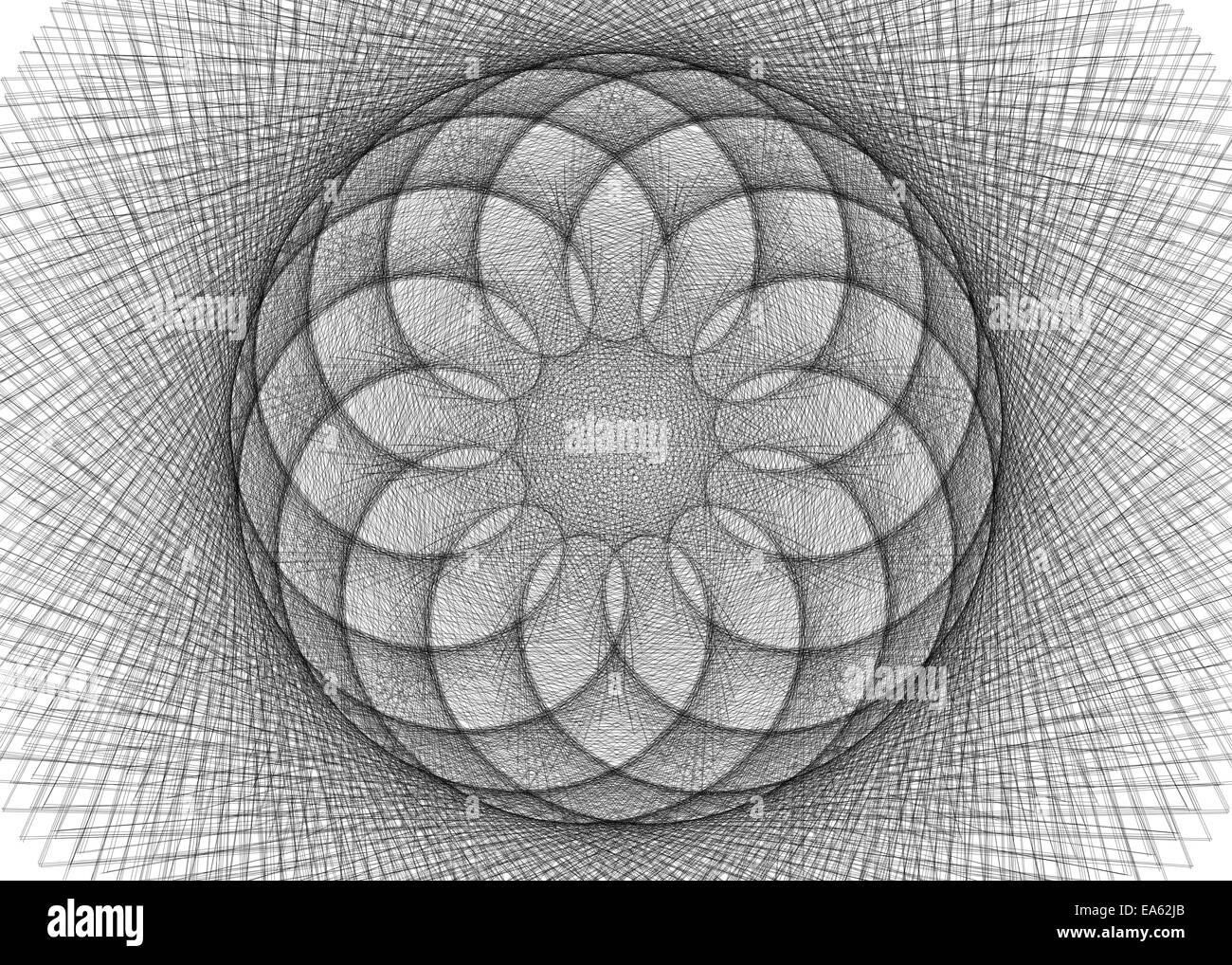 Spirographs - Stock Image