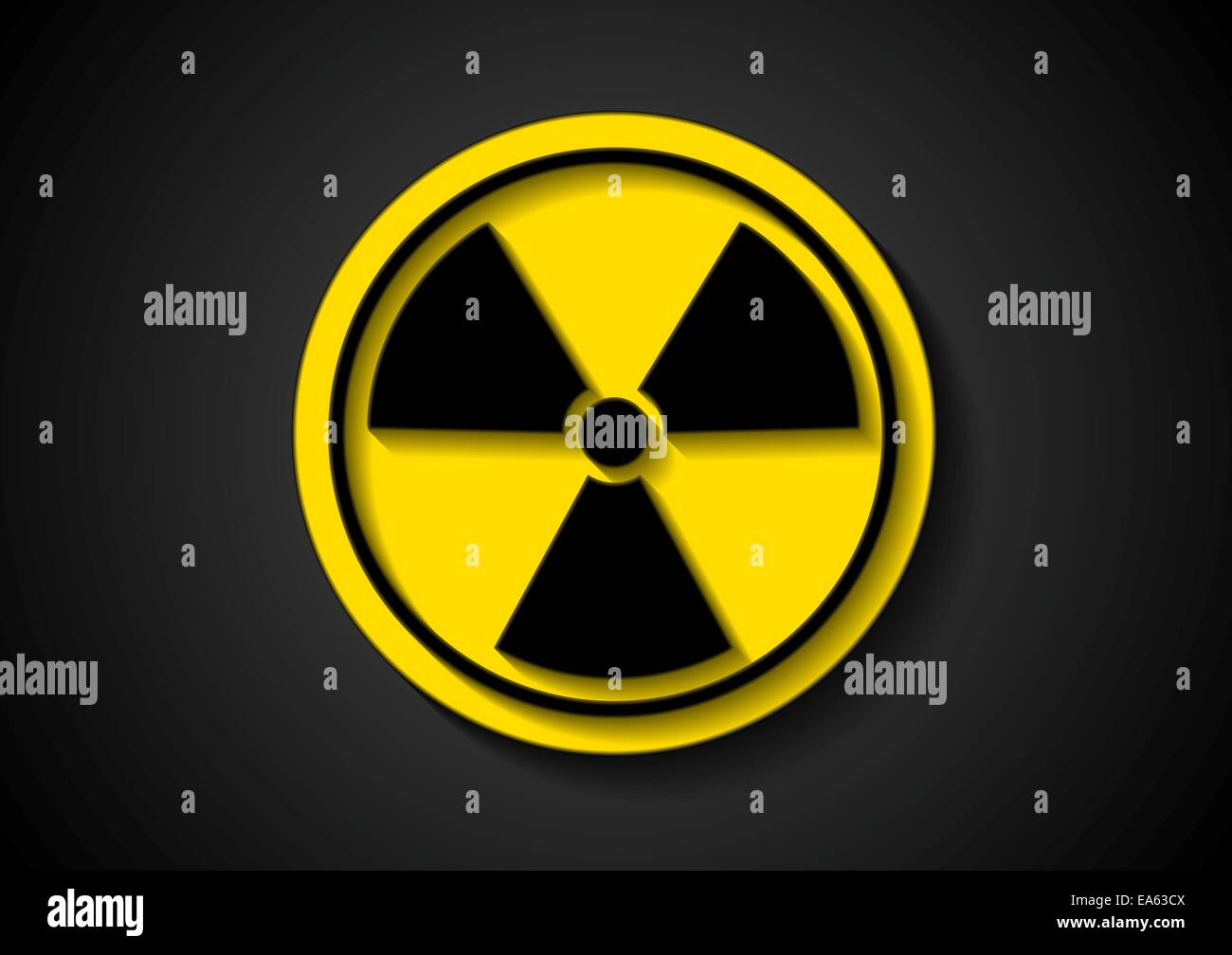 Nuclear radiation  symbol - Stock Image