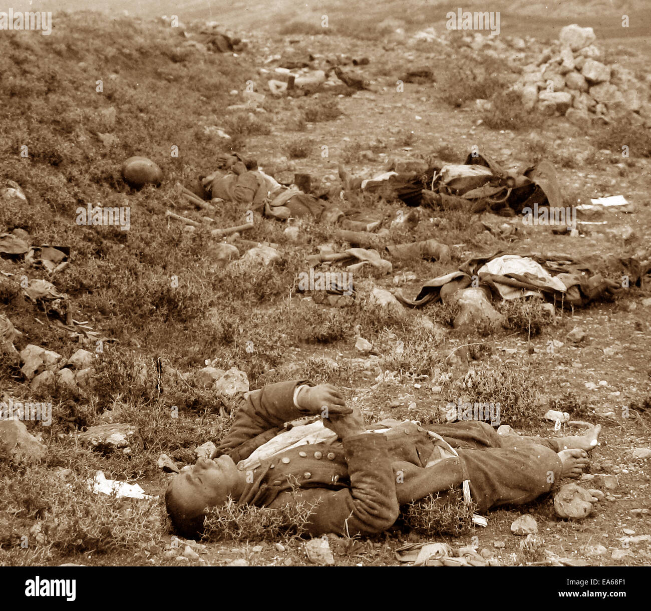 Turkish soldiers at Tell El-Ful 26th December 1917 - Stock Image