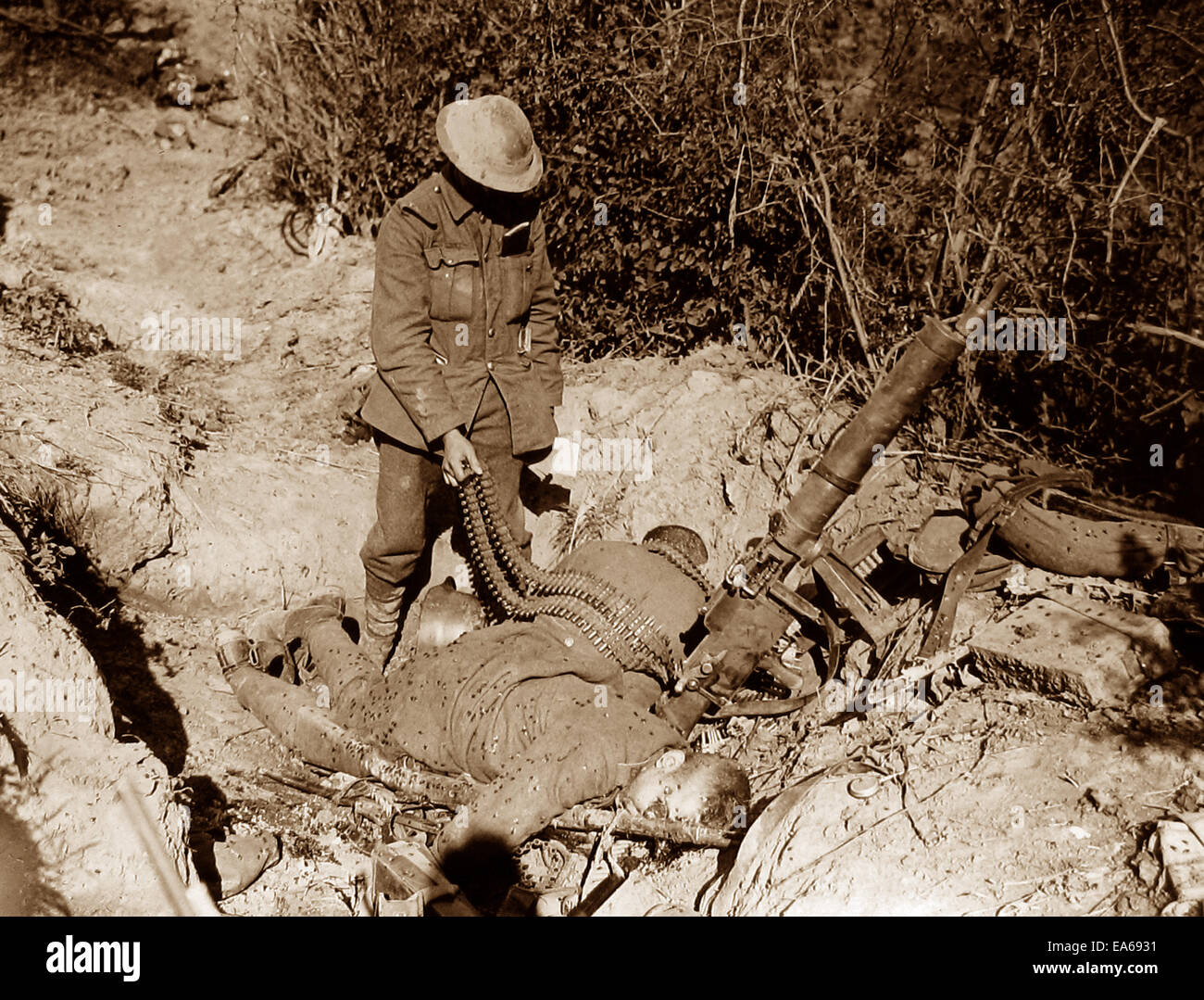Capture of Meteren France 19th July 1918 WW1 - Stock Image