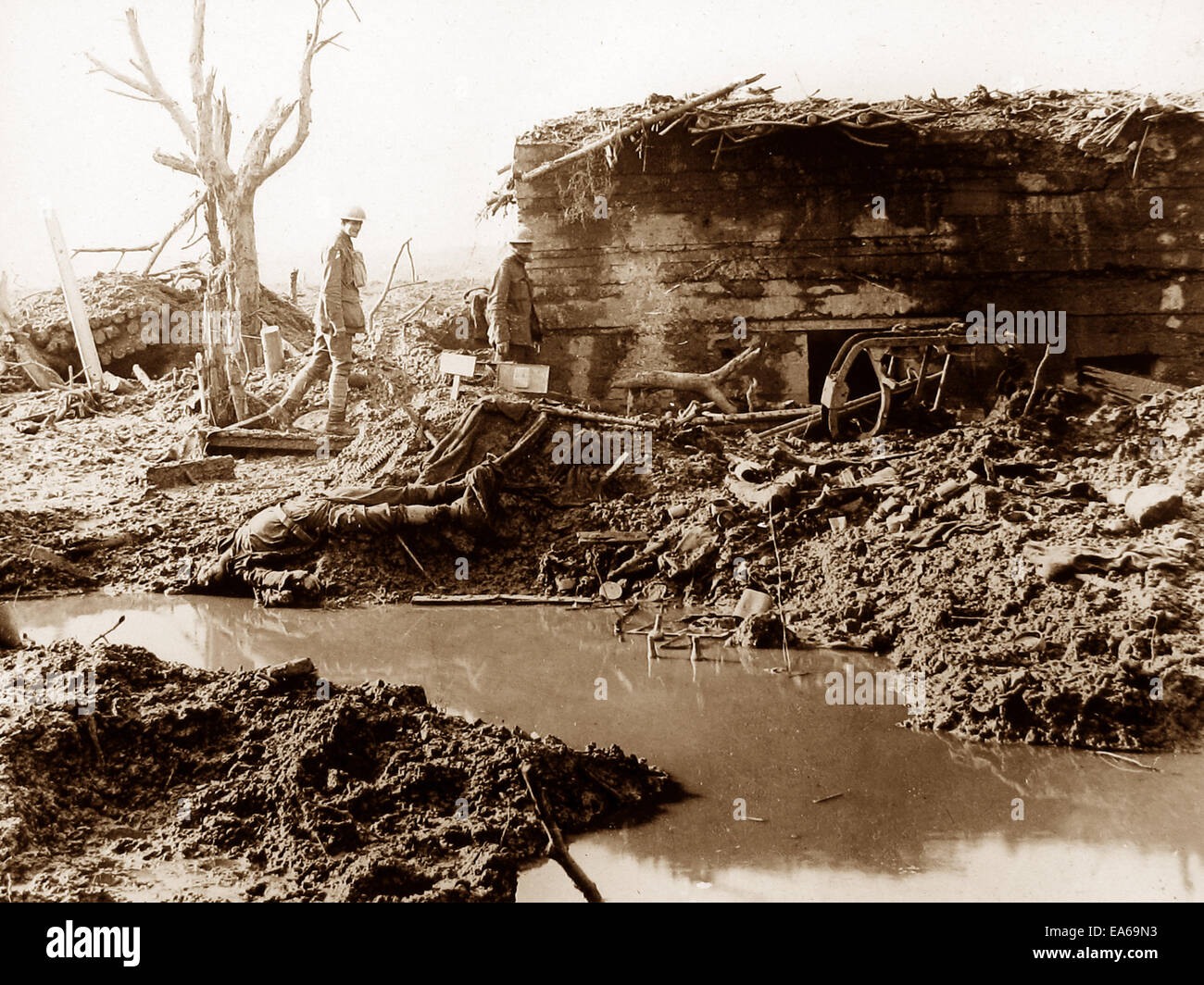 Garter Point Ypres Belgium 24th October 1917 WW1 Stock Photo