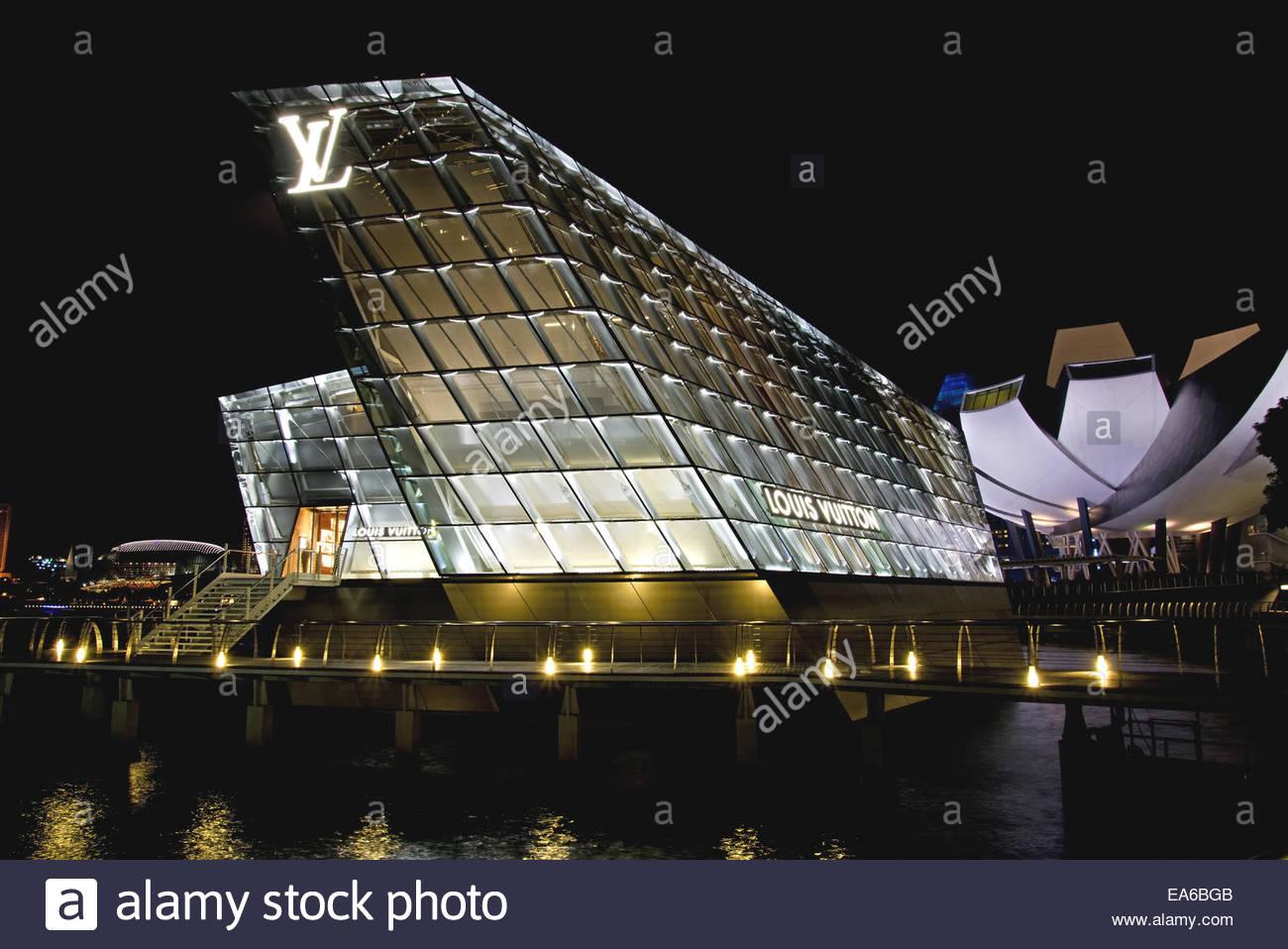 Louis Vuitton Flag Ship Store, Singapore - Stock Image
