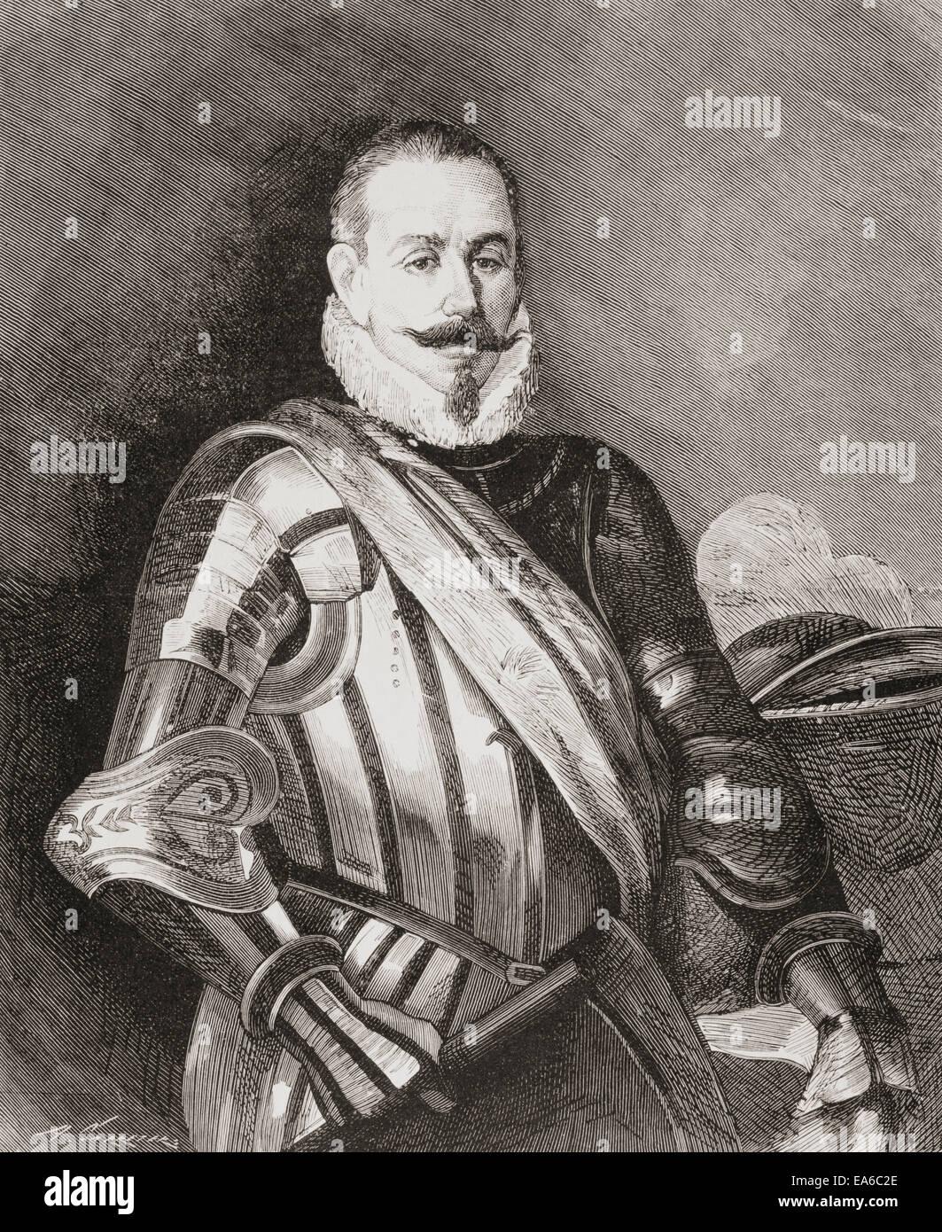 Pedro Gutiérrez de Valdivia or Valdiva, c.1500 – 1553.   Spanish conquistador and the first royal governor - Stock Image