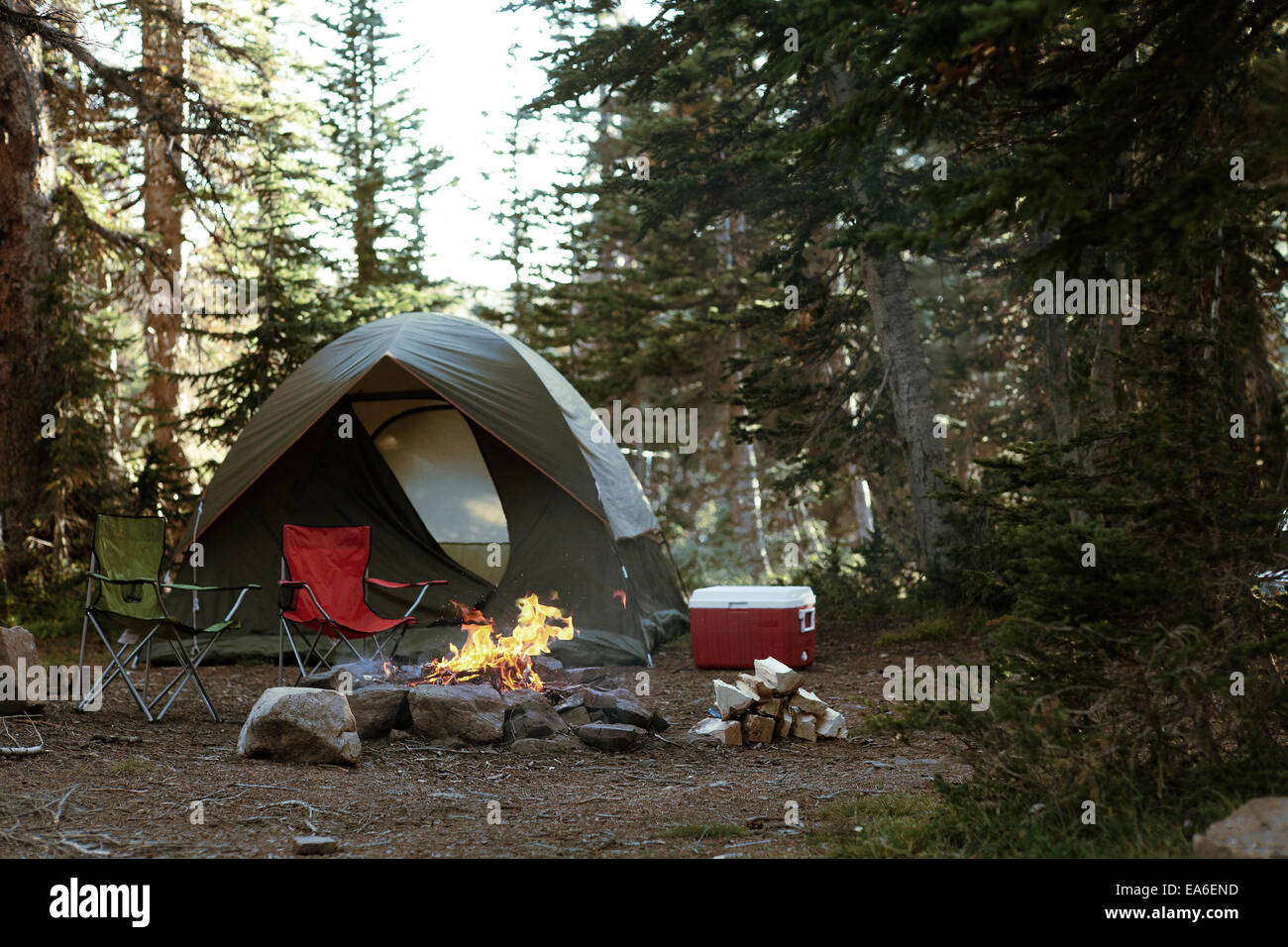 USA, Utah, Weekend Camping - Stock Image
