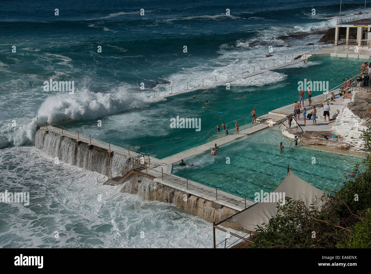 Australia, New South Wales, Sydney, Bondi public pool - Stock Image