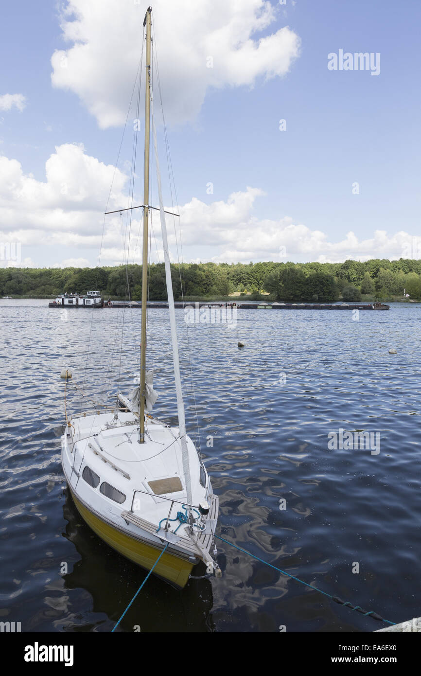 Boat on the River Havel - Stock Image