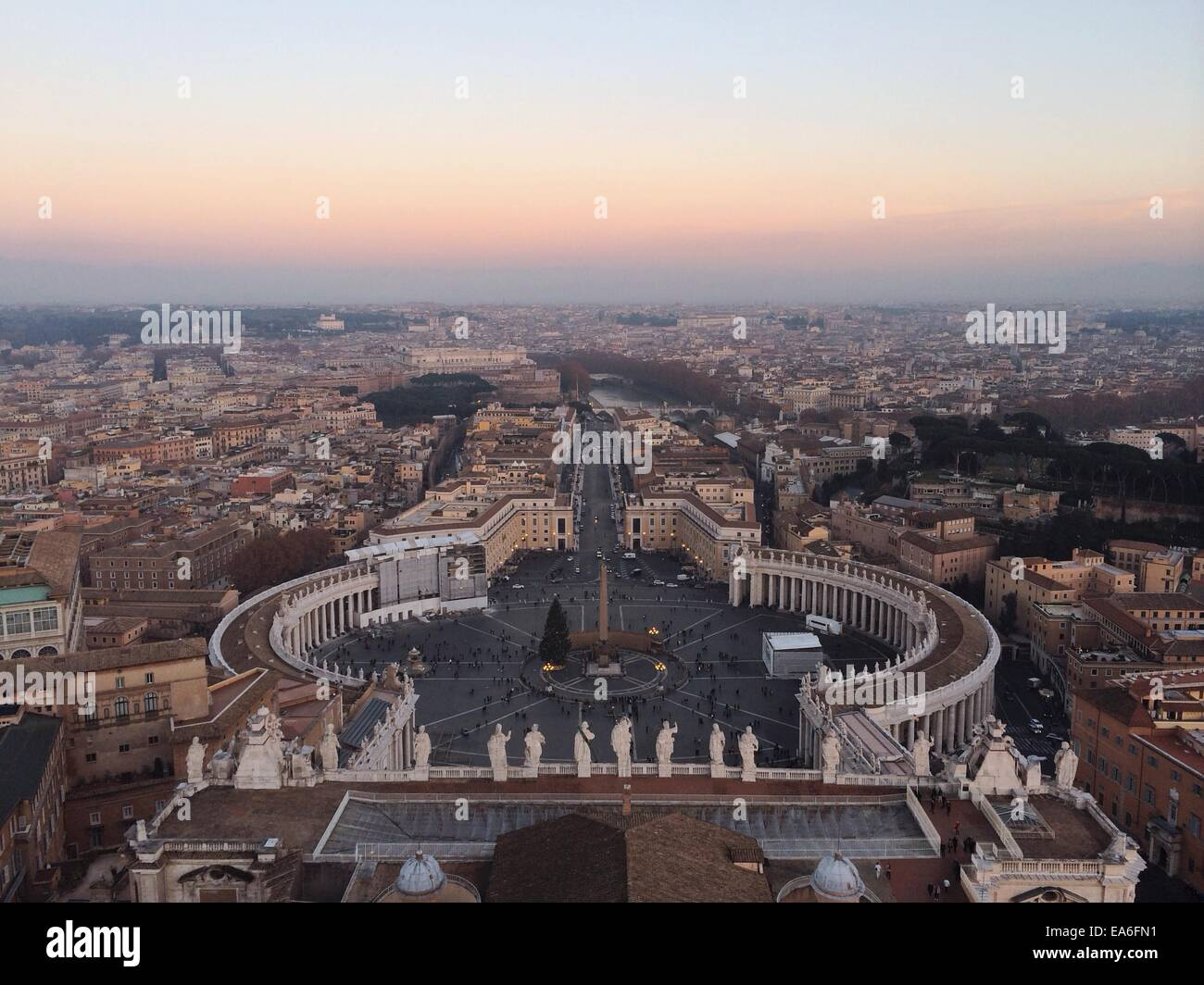 Italy, Rome, Vatican City, View of St. Peter's Square - Stock Image
