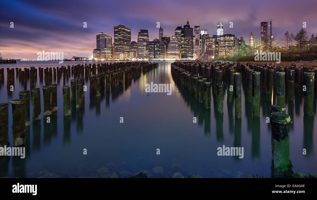 USA, New York State, New York CIty, Manhattan skyline - Stock Image
