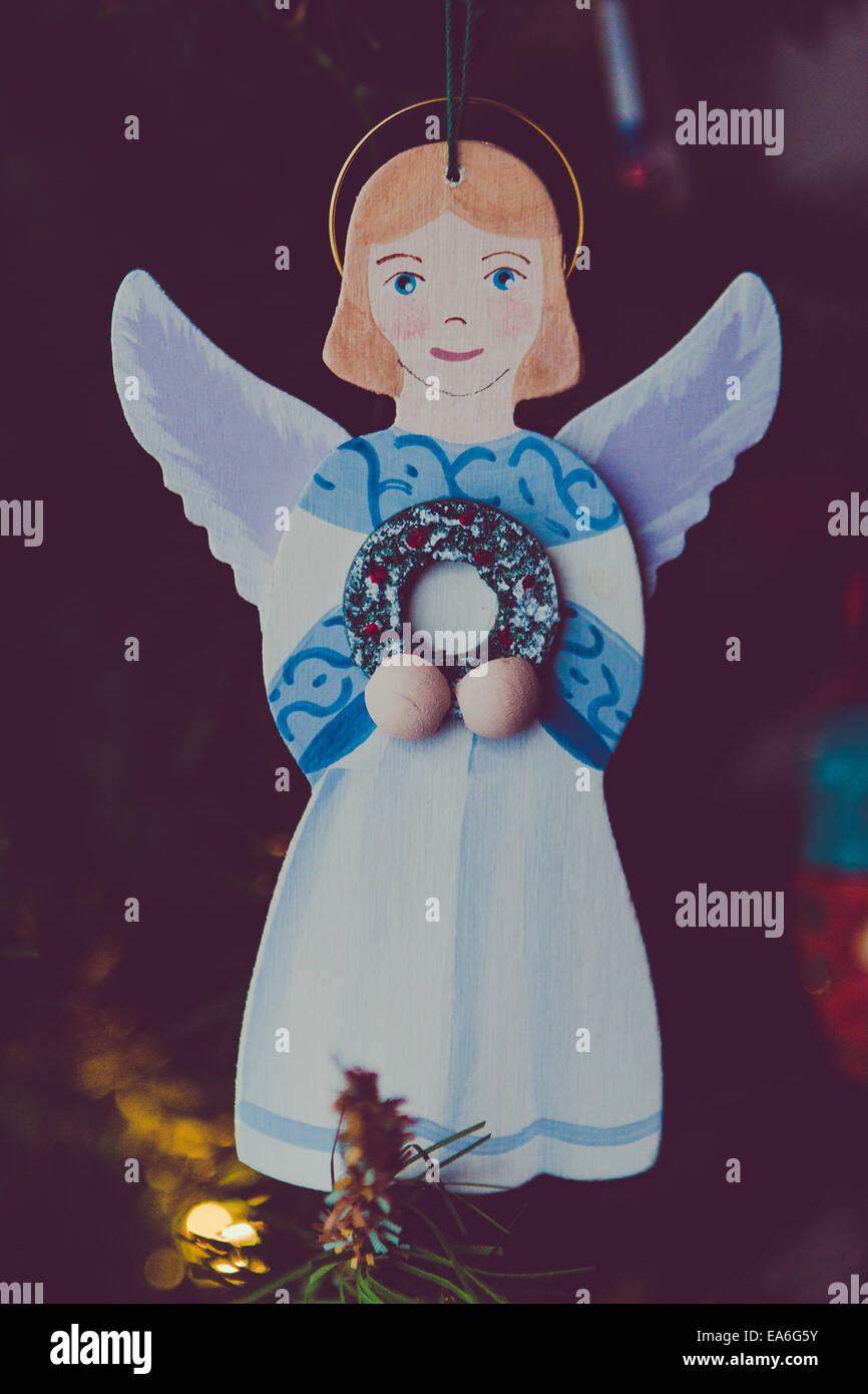 Angel Christmas ornament - Stock Image