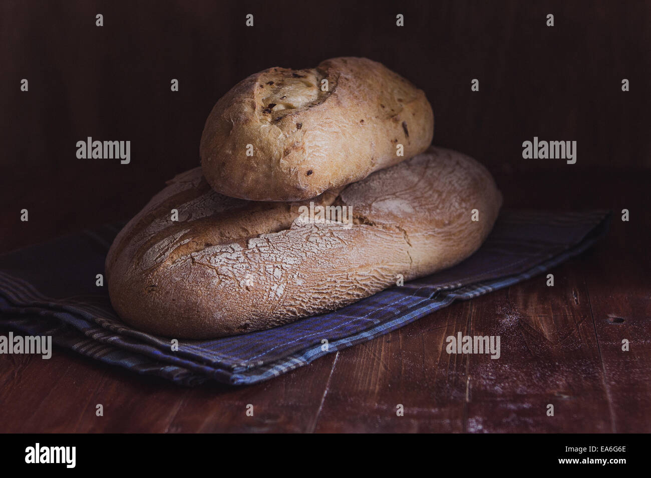 Two Loaves of bread - Stock Image