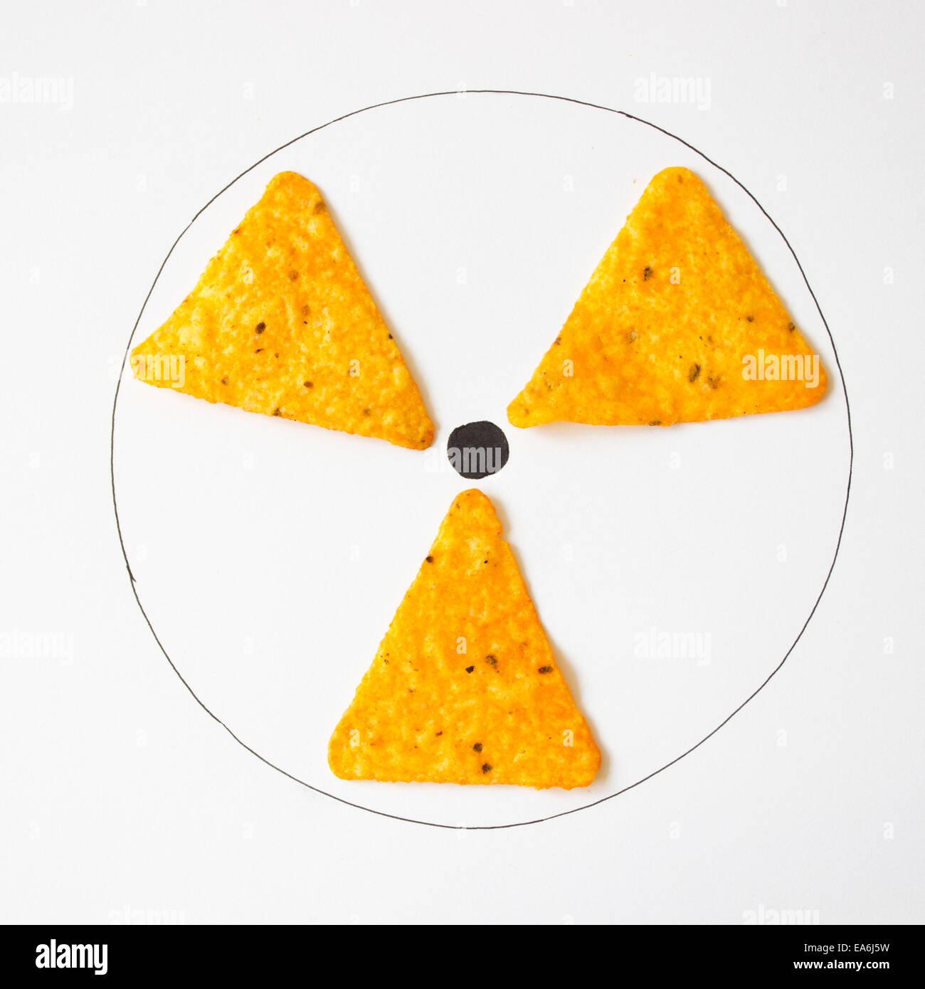 Conceptual radiation symbol - Stock Image