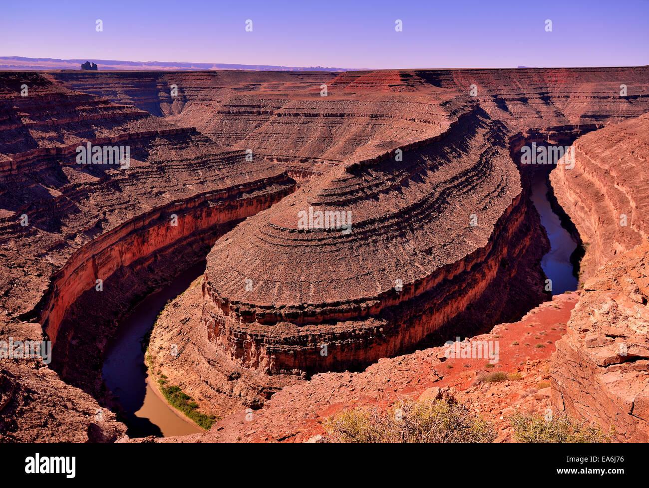 Horseshoe Bend, Page, Arizona, America, USA - Stock Image