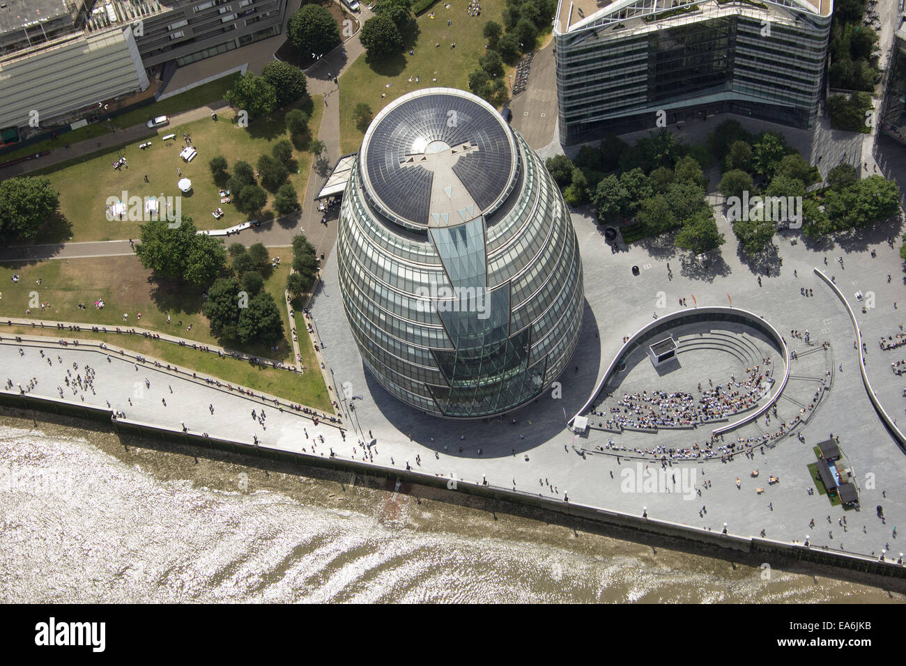 UK, London, City Hall and the Scoop - Stock Image