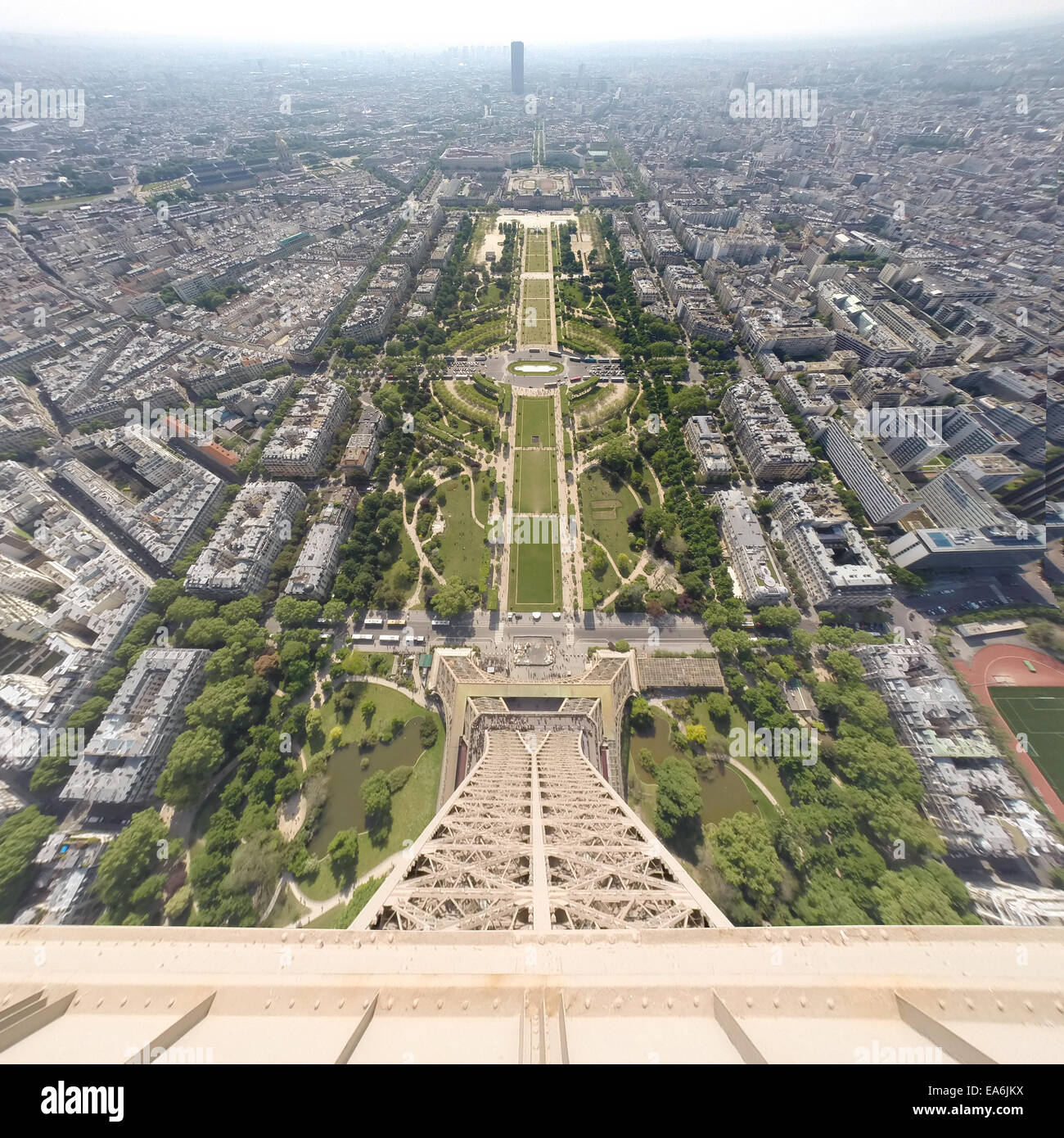 France, Paris, City seen from the Eiffel Tower Stock Photo