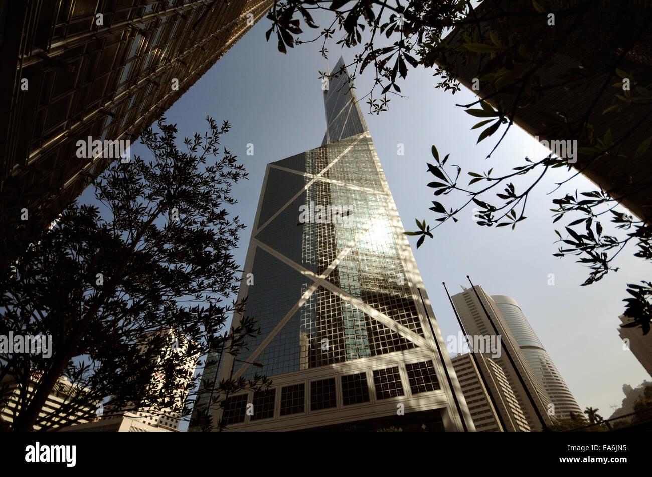 Bank of China Tower, Hong Kong, China - Stock Image