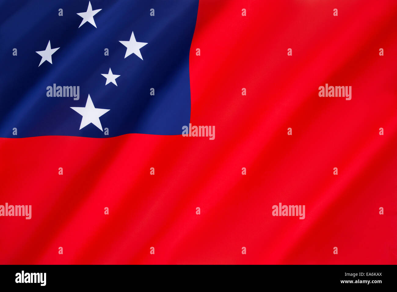 Flag of Samoa - Stock Image