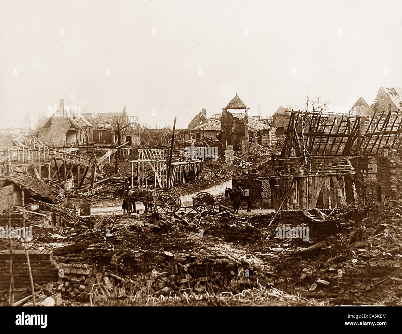 Misery Village France WW1 - Stock Image