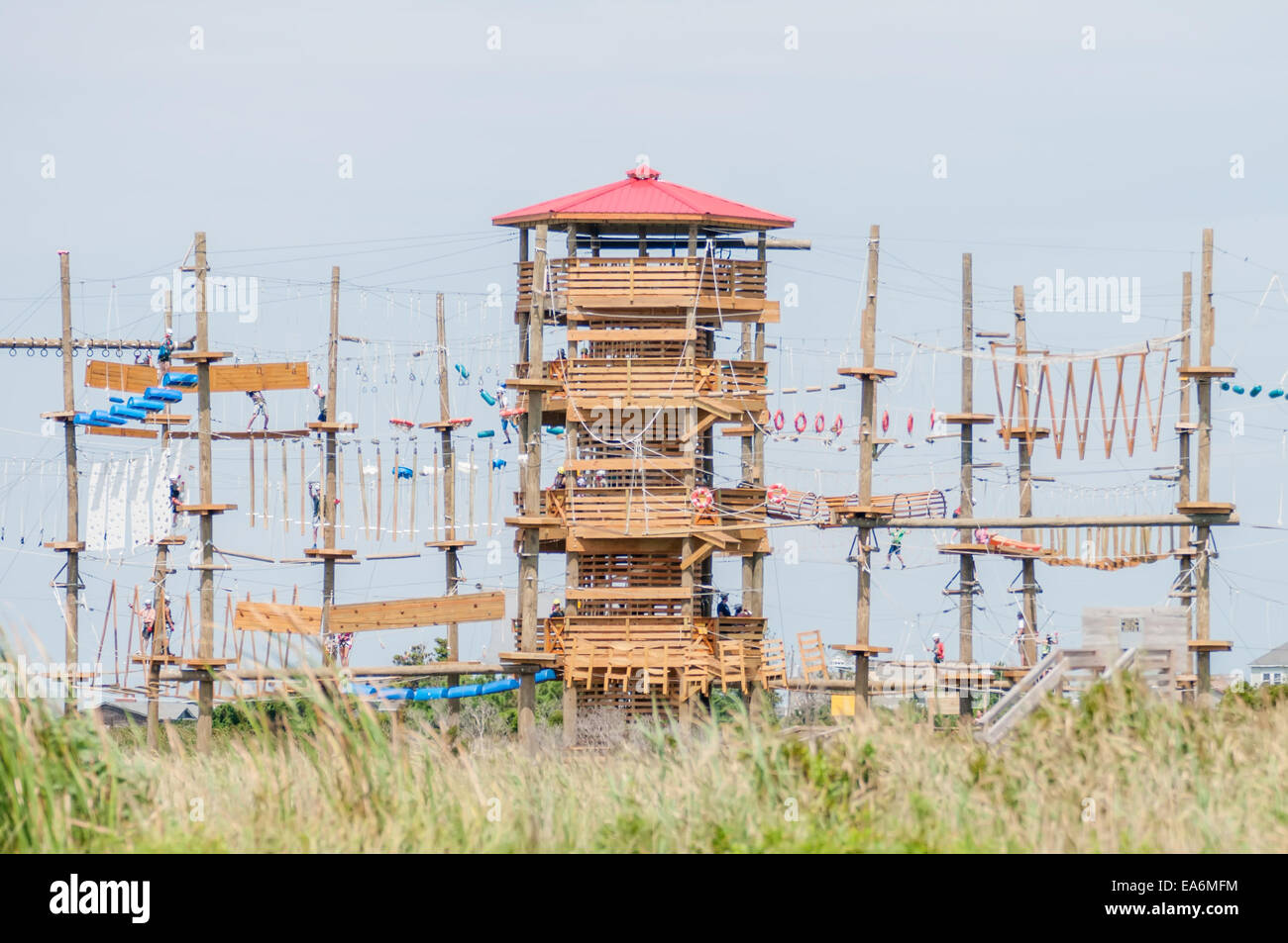 obstacle course tower - Stock Image