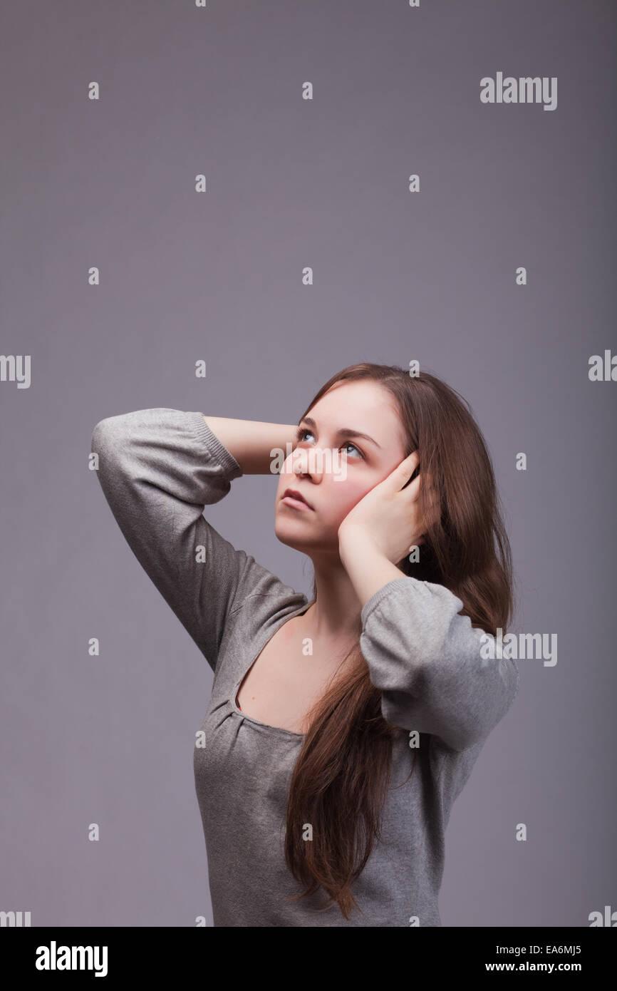 dreamily girl - Stock Image