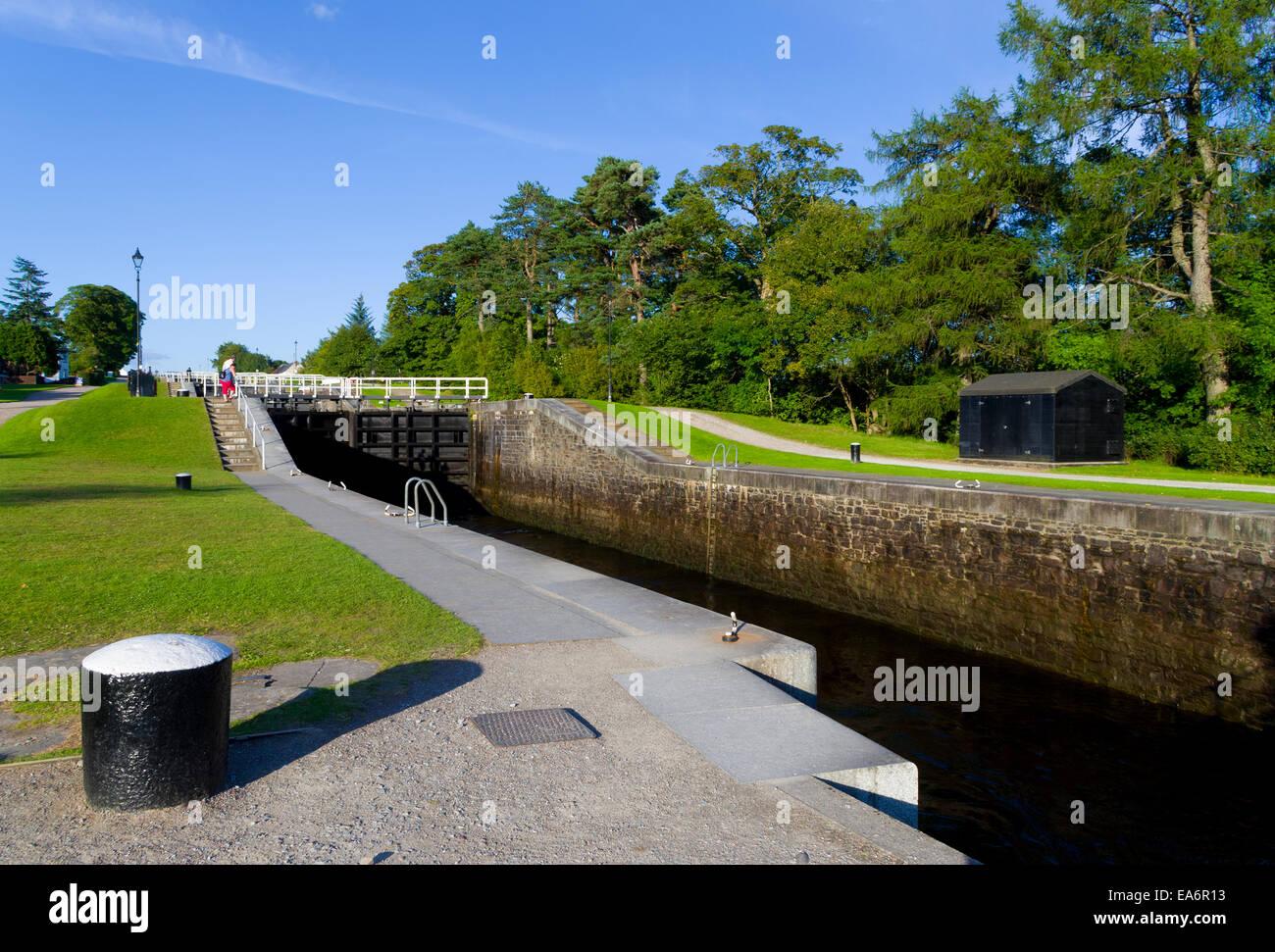 Neptune's Staircase, Caledonian Canal, Banavie, Lochaber, Highland, Scotland, UK - Stock Image