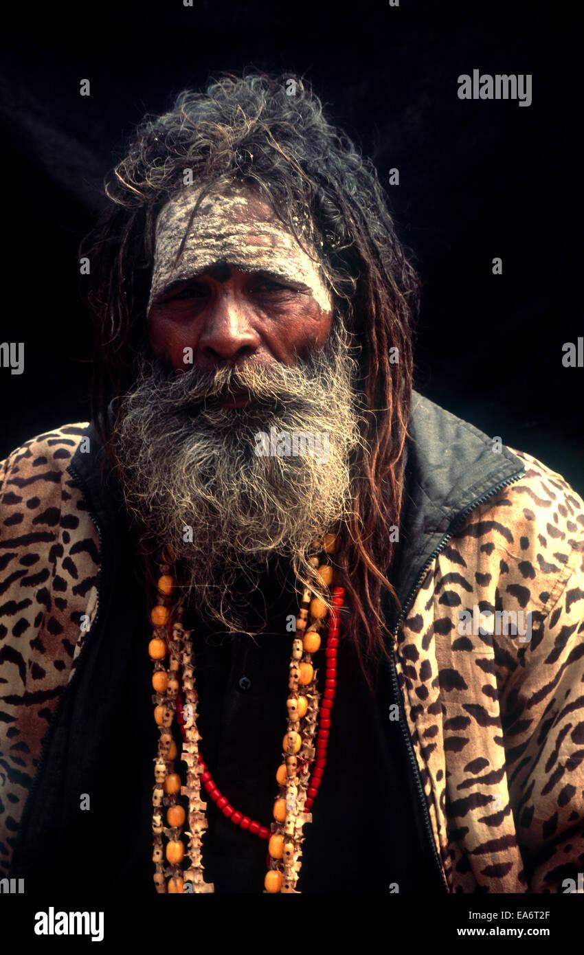 Sadhu,Holy man in India - Stock Image