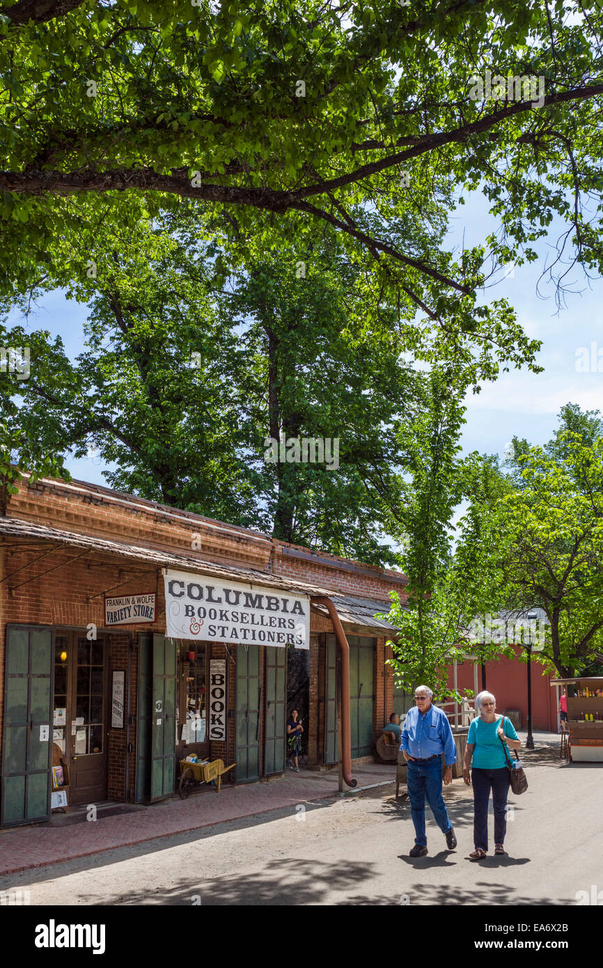 Bookstore in the old gold mining town of Columbia, Columbia State Historic Park, Tuolumne County, California, USA - Stock Image