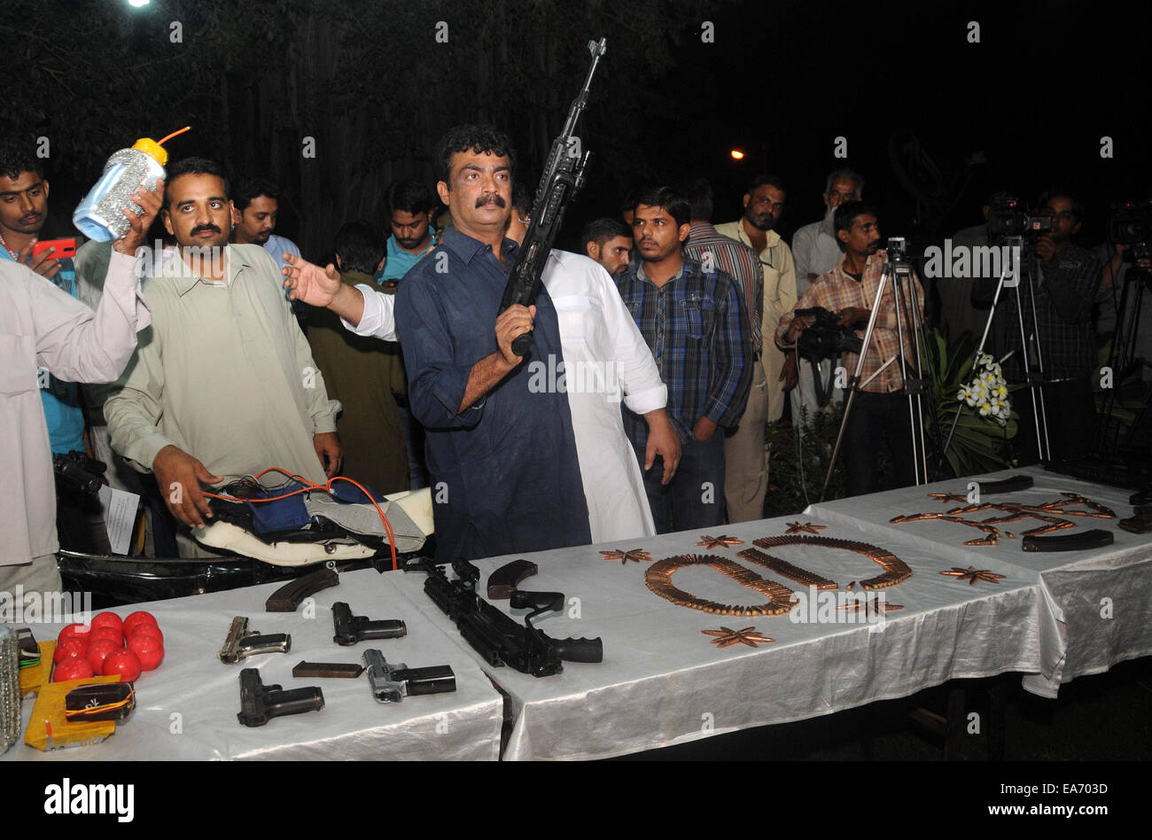Cid Seized Weapons Stock Photos & Cid Seized Weapons Stock