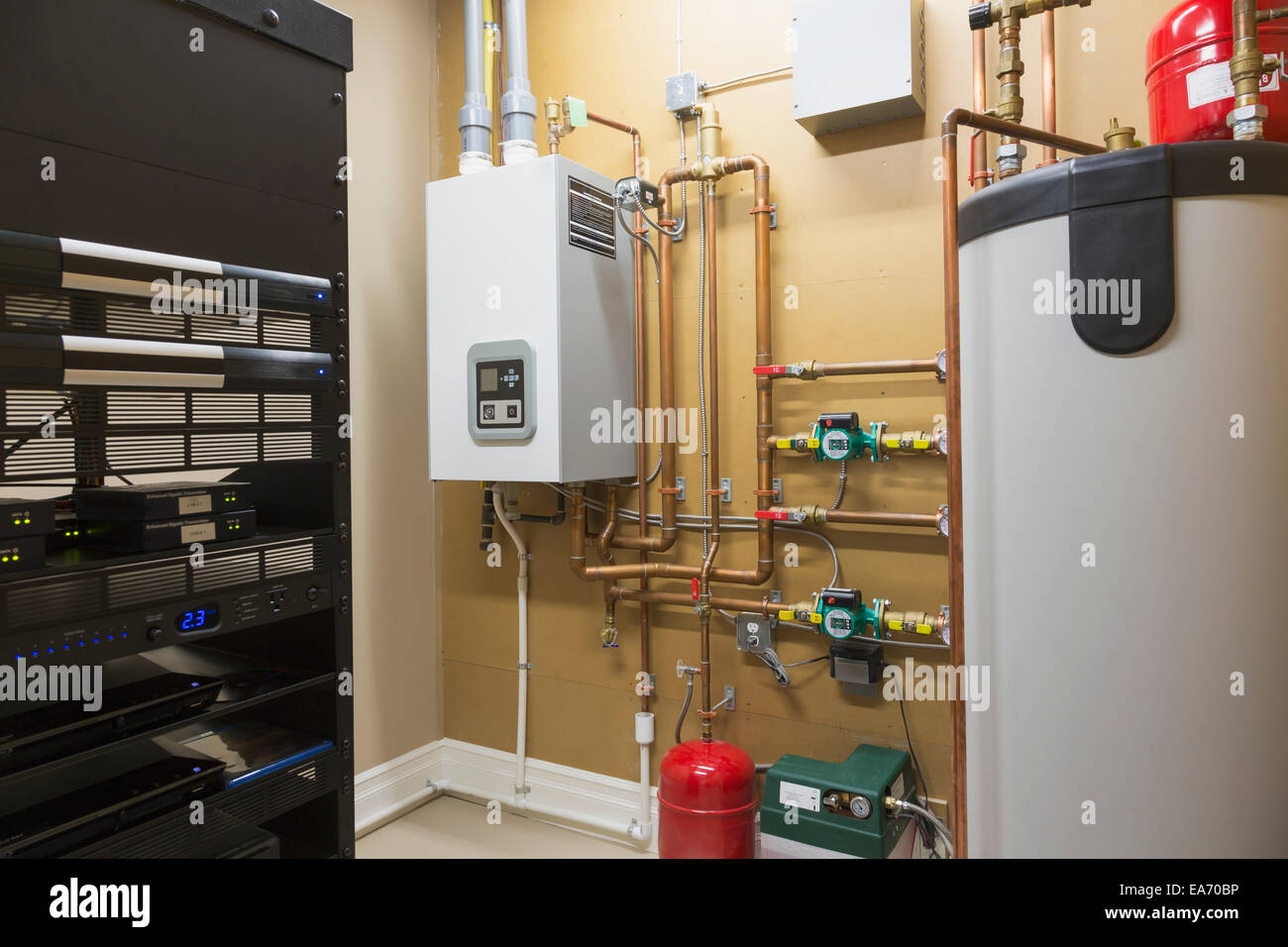 Utility room boiler stock photos utility room boiler for Gas home heating systems