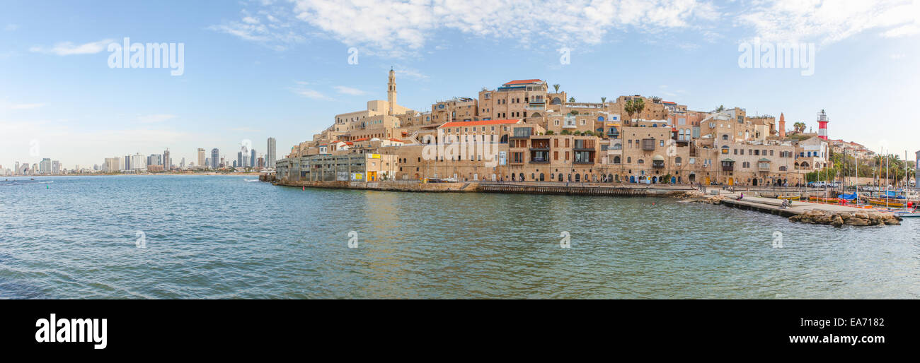 View of Jaffa with Tel Aviv in the background - Stock Image