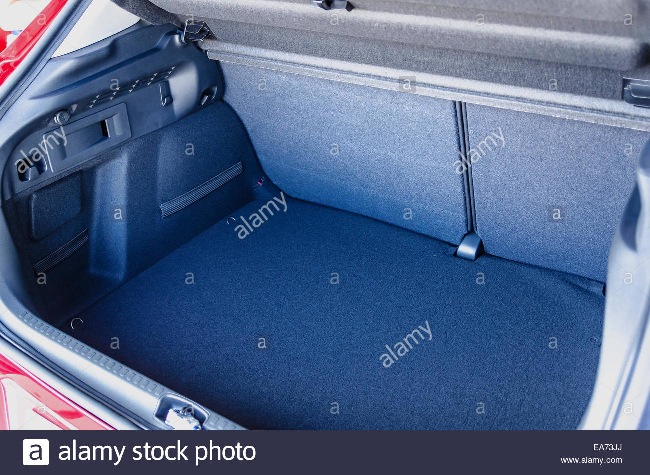 Empty car trunk with a lot of space for luggage and goods - Stock Image