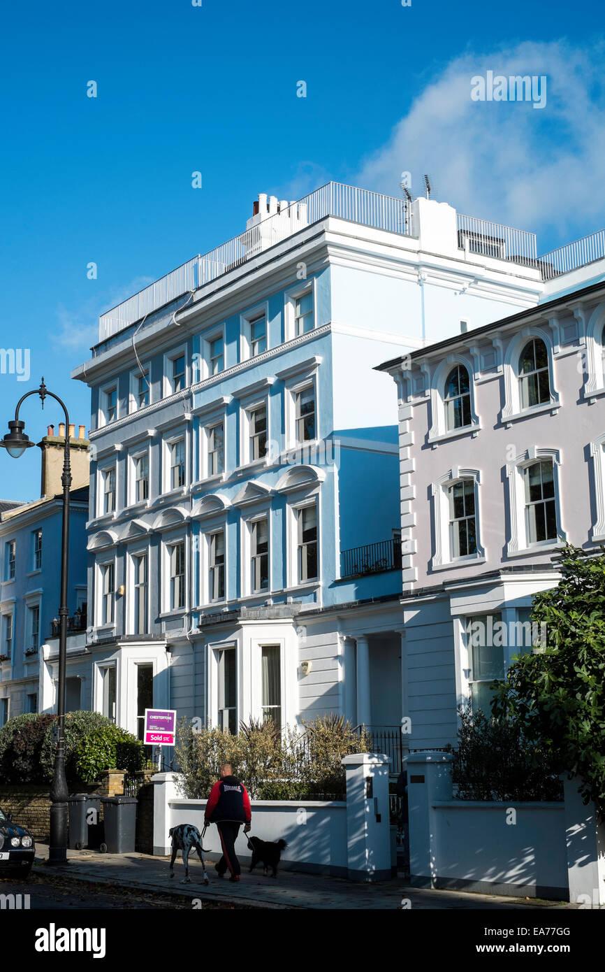 Primrose Hill Camden property townhouse housing UK - Stock Image