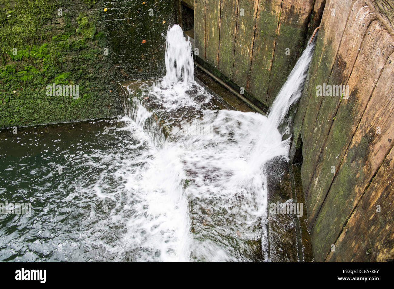 London lack canal water Hackney - Stock Image