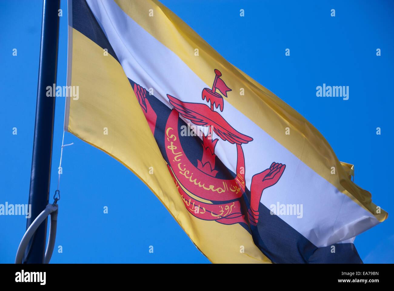 brunei flag - Stock Image